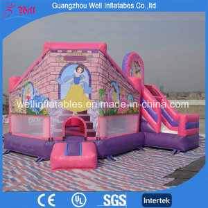 Pink Inflatable Castle with Slide Bouncy Combo Games