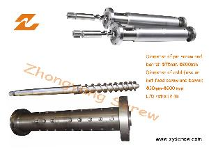 Rubber Machine Screw and Barrel