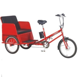 Electric Pedal Bike for Passenger/Assisted Pedal Taxi E-Rickshaw