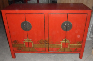 Antique Furniture Wooden Painted Buffet Lwc367
