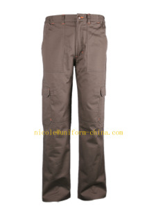 En11611/En11612 Standards Flame Retardant and Anti-Static Mens Safety Work Pants with Six Pockets