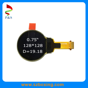 0.75inch Round Mono OLED Display, White Color