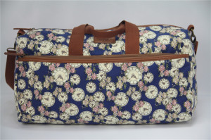 Fashion Colorful Printing Canvas Lady Travel Duffel Bags