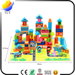 Wooden Toys Traffic Game City Building Kids Blocks