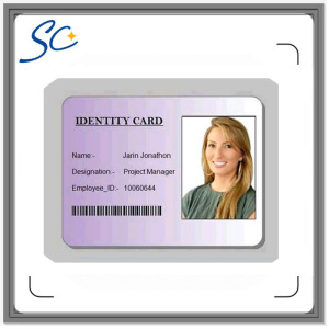 Cr80 Printable ID Card with Barcode