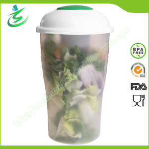 Wholesale Salad Shaker Bottle with Fork