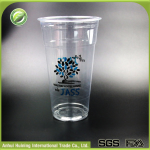 24oz Printed Disposable Plastic Smoothie Coffee Cup