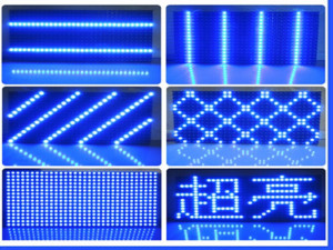 Semi-Outdoor & Outdoor Single Blue Text LED Display Screen Module