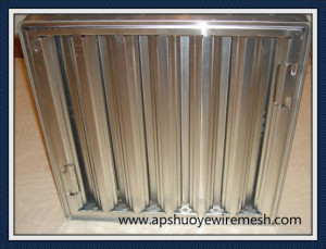 Washable Reuseable Stainless Steel Aluminum Mesh Grease Filter