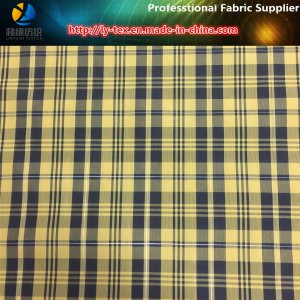 Polyester Yarn Dyed Check Fabric with Reflective Yarn for Jacket
