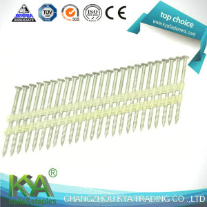 21 Degree Round Head Zinc Galvanized Plastic Strip Nails for Framing Nailer