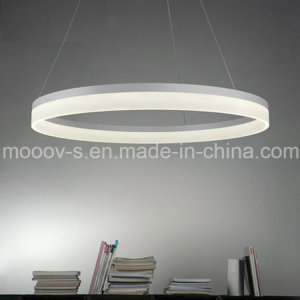 Modern Simple Hanging Decorative Cycle Ring Acrylic LED Pendant Light