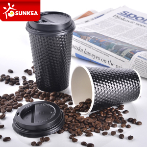 Printed Paper Takeaway Coffee Cups with Lid