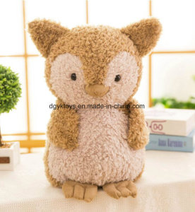 New Design Lovely Plush Owl Toy Stuffed with Down Cotton