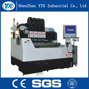 Double Productivity CNC Glass Engraving Machine with 4 Drills