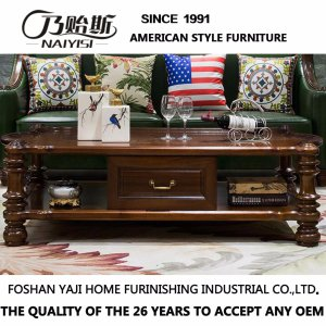 American Style Wooden Long Coffee Table for Home Furniture (AS839)