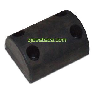Black 102mm Height Rubber Molded Dock Bumper for Security