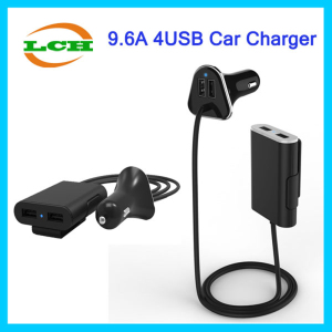 2016 New Hotsell 4 USB 9.6A Smart Car Charger