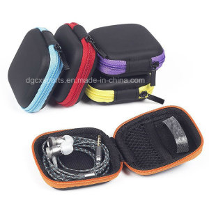 EVA Earphone Pouch Bag with Internal Mesh Pocket