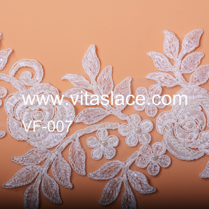 16cm Width Chinese Factory Lace Appliques for Wedding Gown Vf-007bc