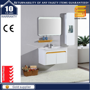 Best Selling MDF White Lacquer Bathroom Cabinet Furniture