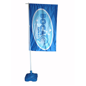 Nation Flag Banner Display Stand with Waterbox