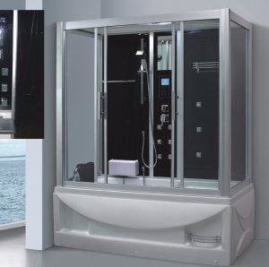 1700mm Special Pearlized Steam Sauna with Jacuzzi (AT-LG0908)