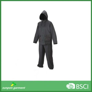 Durable Clear Plastic Rain Suit for Workers