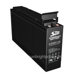 12V155ah Front Terminal Deep Cycle Lead Acid Battery for Telecom Use