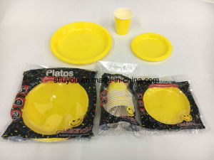 Colorful Plastic Party Disposable Plate