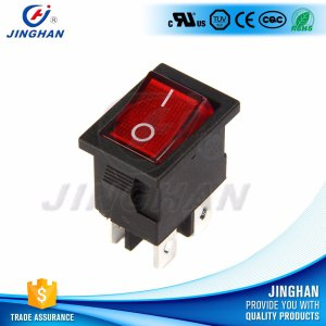 Hot Sales 4 Pin Kcd1-104gn Durable Illumination Rocker Switch with Lamp