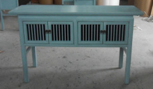 Asian 4 Caged Door Console Table Lwd533
