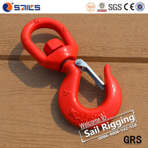 Drop Forged Colored S-322 Swivel Hook with Safety Latch