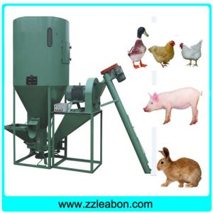 Vertical Poultry Chicken Feed Mixer Machine with Crusher