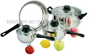 Stainless Steel 7PCS Kitchenware Cookware Set