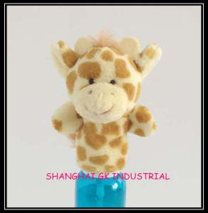 Kids Toy Plush Giraffe Finger Puppet