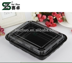 Sushi Food Party Disposable Plastic Container Tray with Clear Lid