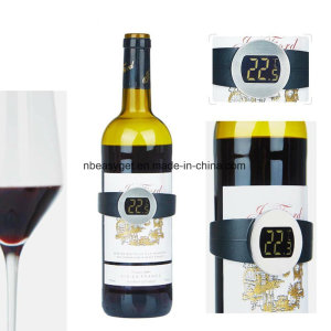 Champagne and Wine Bottle Snap Thermometer Digital Instan Read Thermometers with LED Display for Win