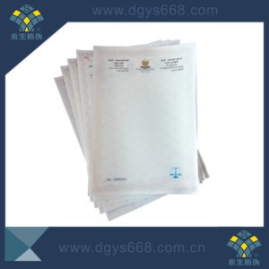Cheap Security Paper with Watermark for Certificate and Document Printing