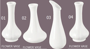 Decorative Porcelain Flower Vase (01-04)