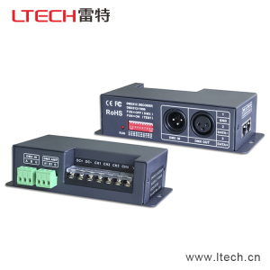 Ltech Lt-840-6A 6A*4CH DMX Decoder for RGB RGBW Light DMX Driver 5-24V Output DMX Signal Amplifier D