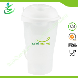 Fruit and Vegetable Container with Fork, Salad Cup
