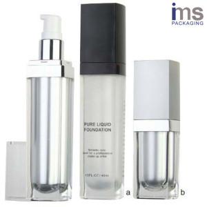 Square Plastic Lotion Bottle with 30ml/15ml