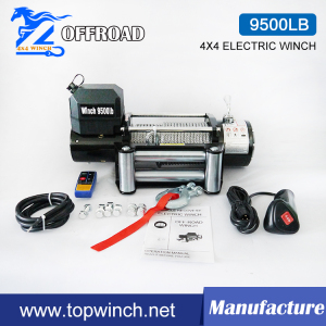 SUV 12V/24VDC Steel Gear Electric Winch with FCC (9500lbc-1)