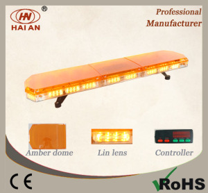 Amber LED Lightbar with Lin Lens