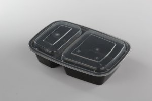 Meal Prep Containers 2 Compartment Food Container with Lids BPA-Free