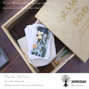Hongdao Customized Gift Wooden Photo Album Box for Sale_D