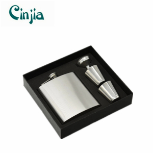 Stainless Steel Wine Flask Set with Gift Box
