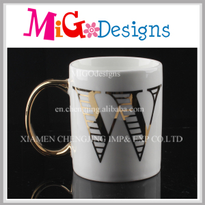 Exquisite Letter Cups with Handle Cheap Supply Ceramic Mug