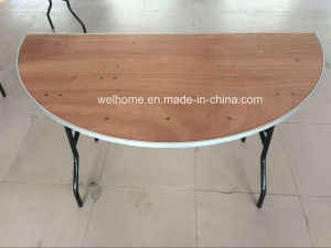 Half Moon Plywood Folding Table